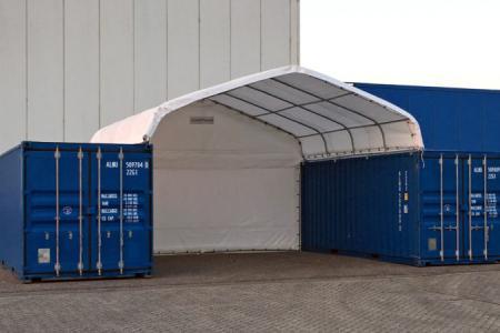 Créez un espace couvert entre vos containers