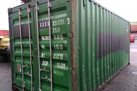 Container 20 pieds occasion Classe A Vert