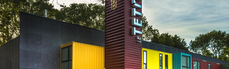 Une sculpture ContainerZ pour le Tetris
