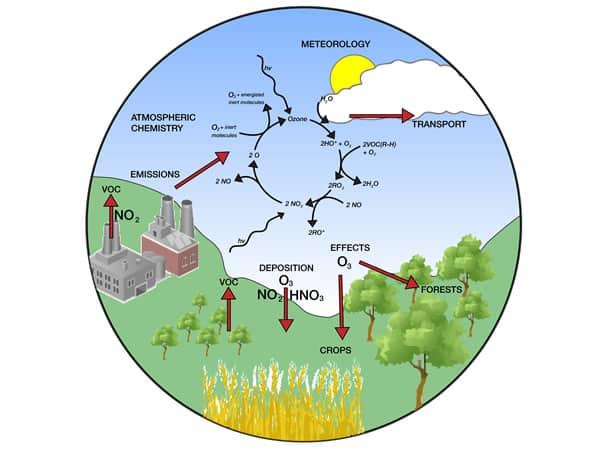 Exemple schéma pollution solvants