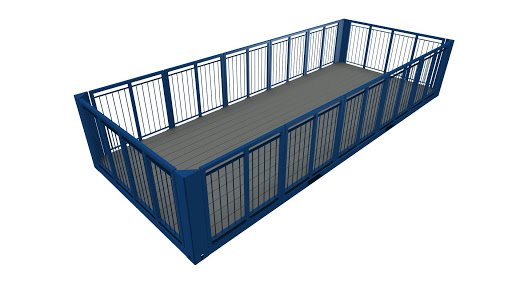 Exemple de terrasse plein pied avec garde corps