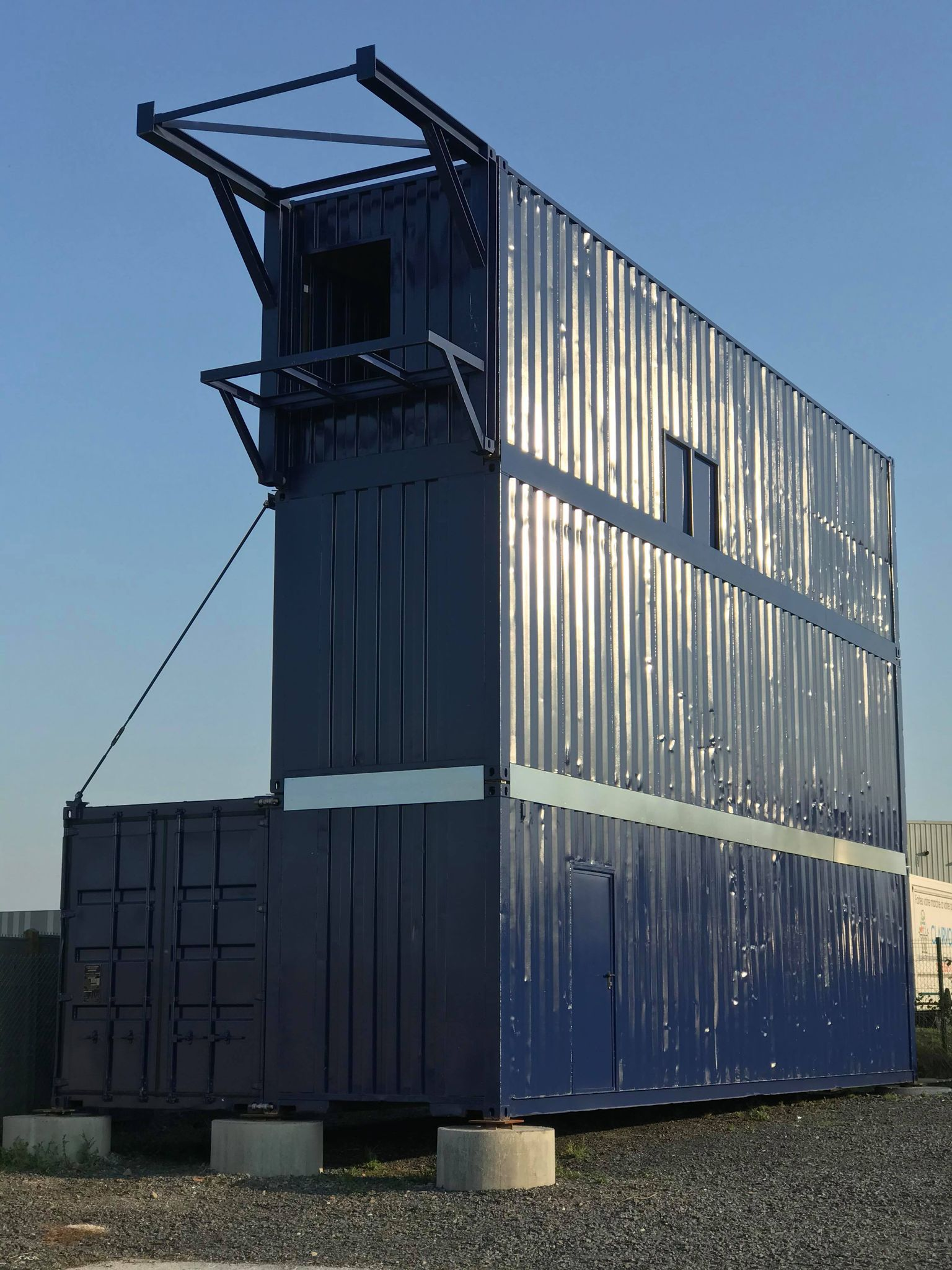 Structure pour travaux en hauteur containerz