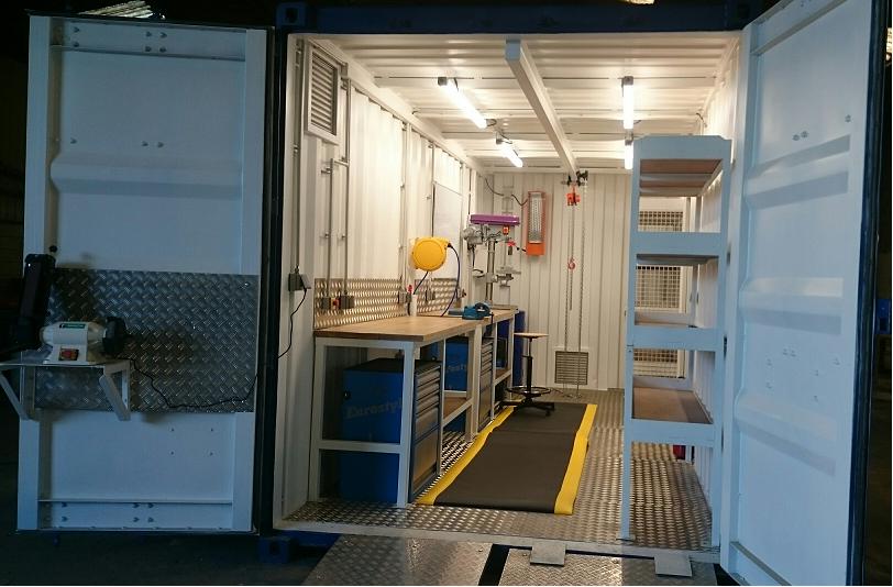 Atelier en container